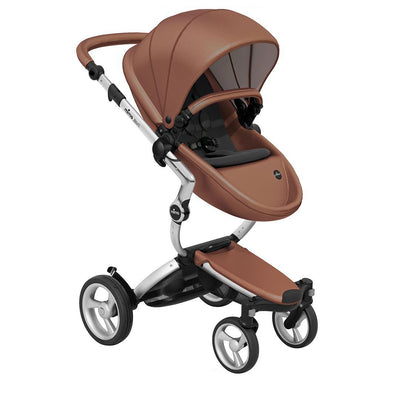 Mima Xari Pushchair - Camel Flair + Aluminium-Strollers-Pure Black- Natural Baby Shower