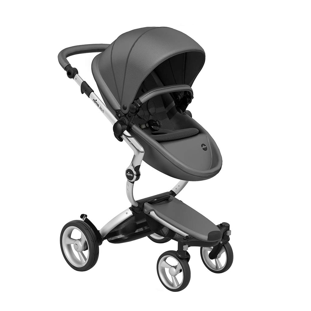Mima Xari Single Pushchair - Cool Grey with Aluminium Chassis-Strollers- Natural Baby Shower