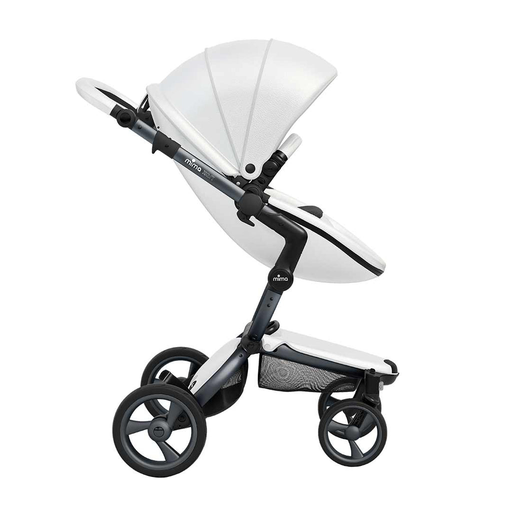 Mima Xari Single Pushchair Snow White With Graphite Grey Chassis