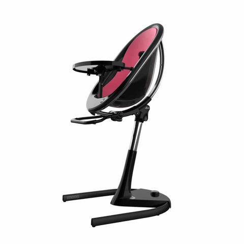 Mima Moon Highchair - Black with Fuchsia Seat Pad-High Chairs- Natural Baby Shower