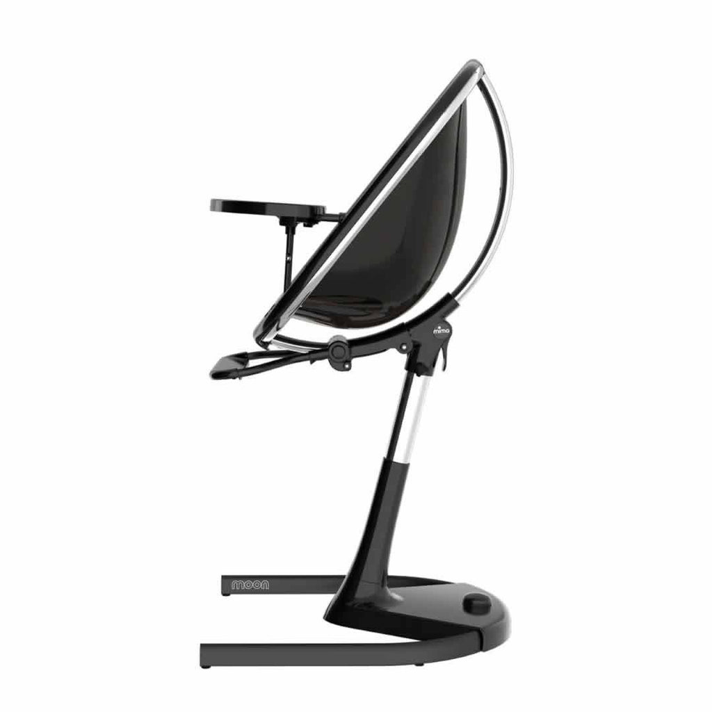 Mima Moon Highchair Black with Snow White Seat Pad