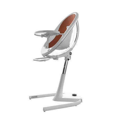 Mima Moon Highchair - White with Camel Seat Pad - High Chairs - Natural Baby Shower