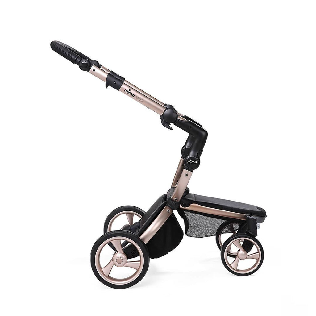 Mima Xari Single Pushchair - Cool Grey with Rose Gold Chassis-Strollers- Natural Baby Shower