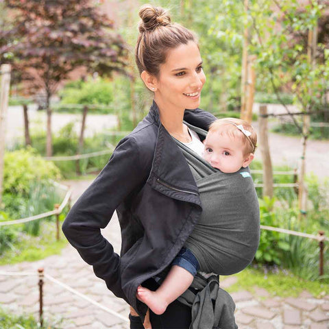 Moby Evolution Wrap - Charcoal-Baby Carriers- Natural Baby Shower