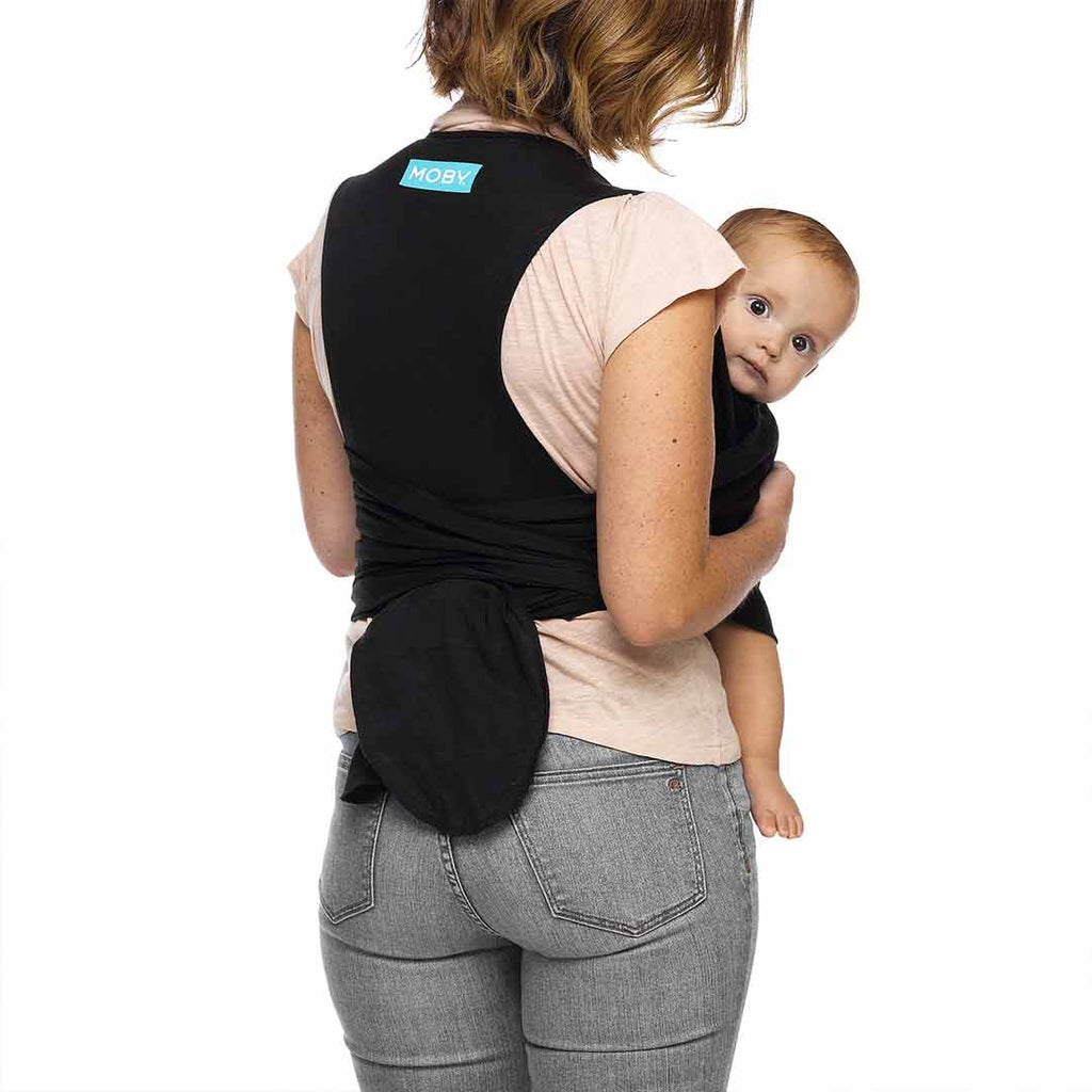 Moby Fit Wrap - Black-Baby Carriers- Natural Baby Shower