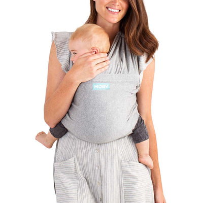 Moby Fit Wrap - Grey-Baby Carriers- Natural Baby Shower