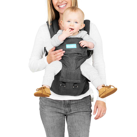 Moby Hip Seat - Grey-Baby Carriers- Natural Baby Shower