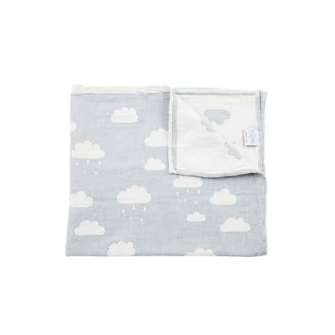 MORI Cloud Throw - Grey-Blankets- Natural Baby Shower