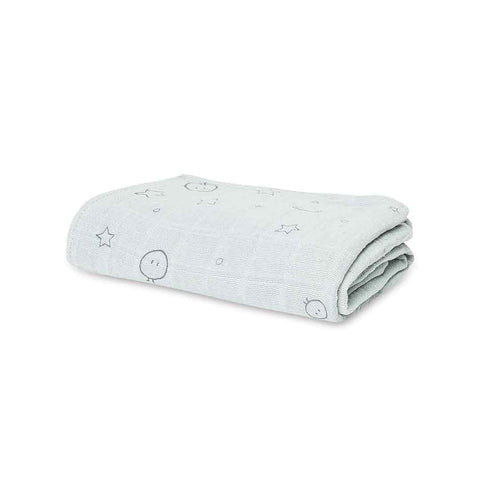 MORI Large Muslin Swaddle - Light Grey