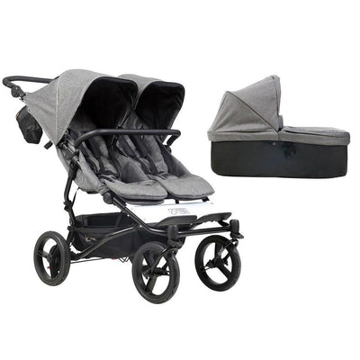 Mountain Buggy Duet V3 Pushchair + Carrycot - Herringbone-Strollers- Natural Baby Shower