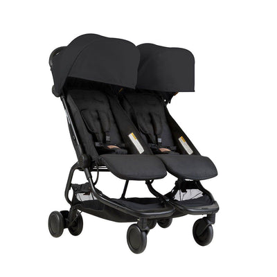 Mountain Buggy Nano Duo Pushchair - Black-Strollers- Natural Baby Shower
