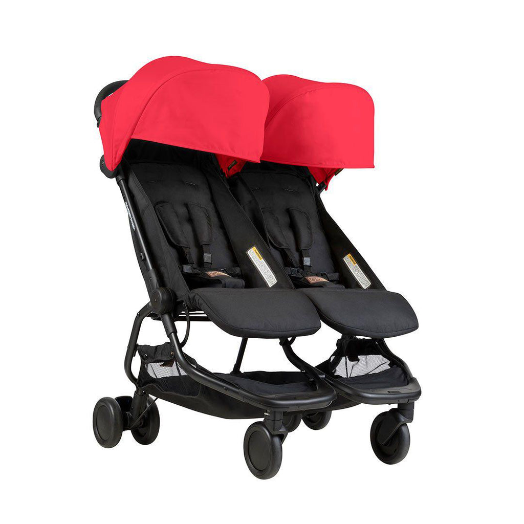 mountain buggy nano duo pushchair in ruby natural baby. Black Bedroom Furniture Sets. Home Design Ideas