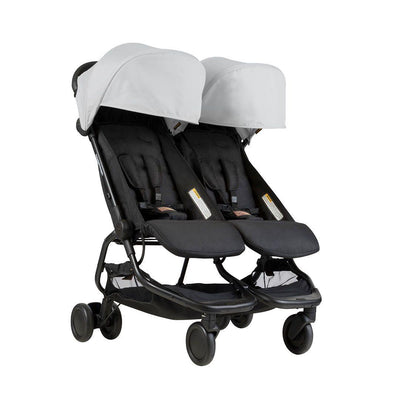 Mountain Buggy Nano Duo Pushchair - Silver-Strollers- Natural Baby Shower