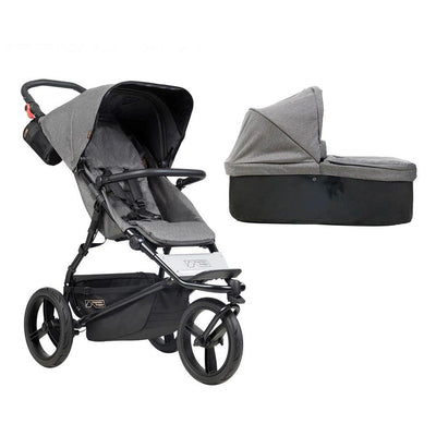 Mountain Buggy Urban Jungle Pushchair + Carrycot - Herringbone-Strollers- Natural Baby Shower