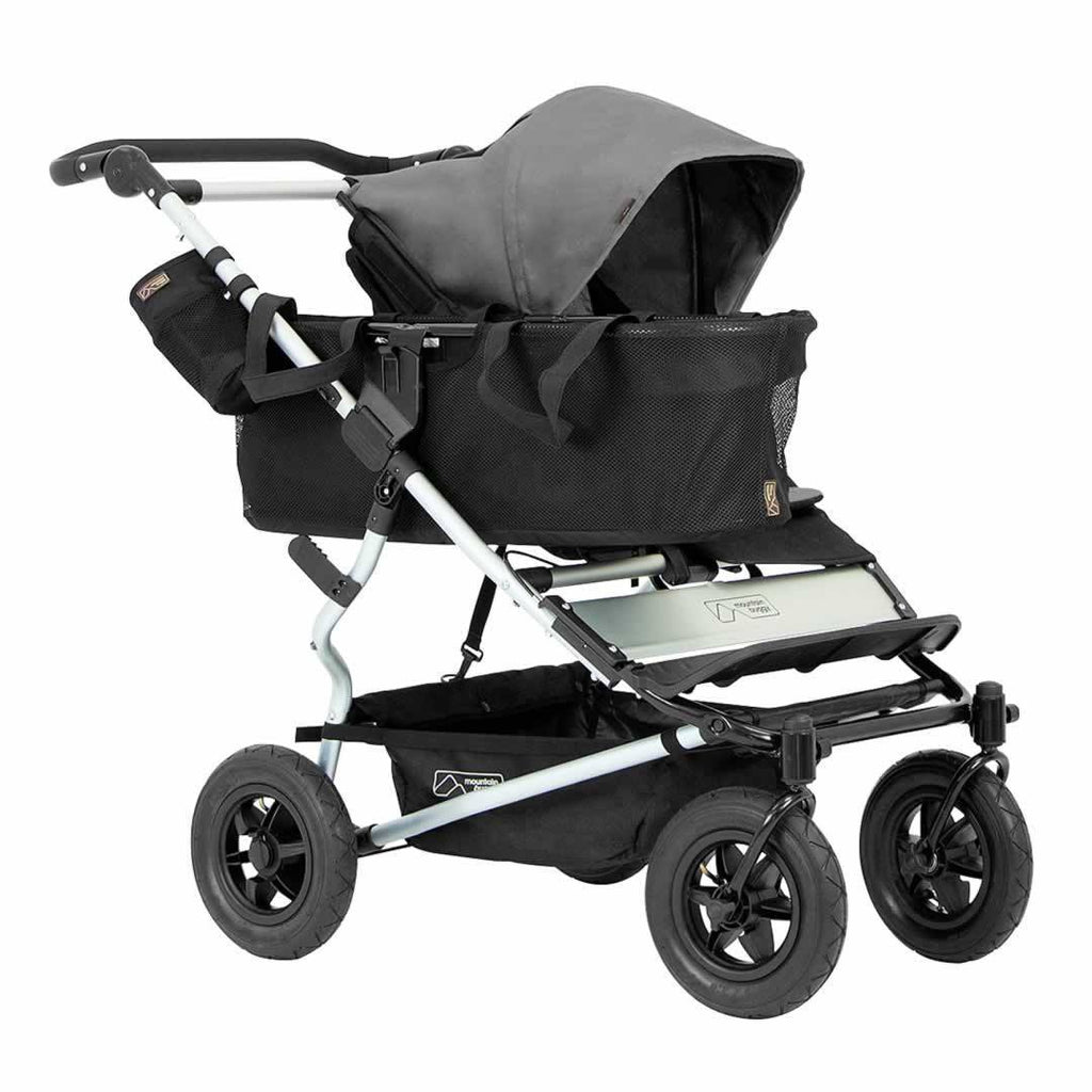 Mountain Buggy Duet Pushchair - Flint with basket