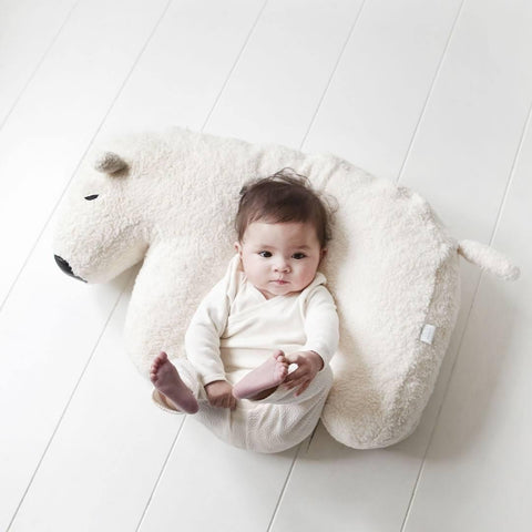 Nanami Nanook Feeding Pillow - White Polar Bear Lifestyle