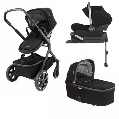 Nuna DEMI GROW Bundle - Caviar-Strollers- Natural Baby Shower