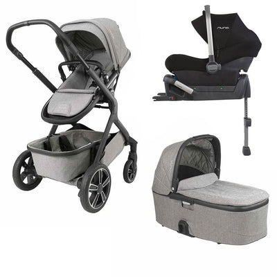 Nuna DEMI GROW Bundle - Frost-Strollers- Natural Baby Shower