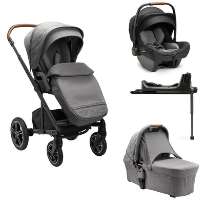 Nuna MIXX NEXT Bundle - Granite-Travel Systems- Natural Baby Shower