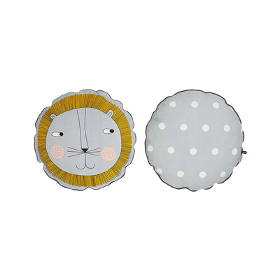 OYOY Lion Cushion - Light Grey-Cushions- Natural Baby Shower