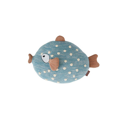 OYOY Little Finn Cushion - Blue-Cushions- Natural Baby Shower