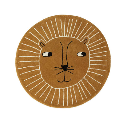 OYOY Rug - Lion - Caramel-Rugs- Natural Baby Shower