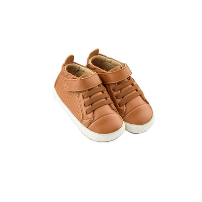 Old Soles Cheer Bambini Shoes - Tan/White-Shoes- Natural Baby Shower