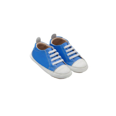 Old Soles Eazy Jogger Shoes - Neon Blue/Snow-Shoes- Natural Baby Shower