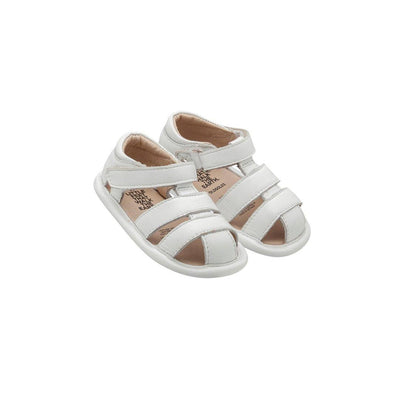 Ex-Display - Old Soles Sandy Sandals - Snow-Sandals-19 EU-Snow- Natural Baby Shower