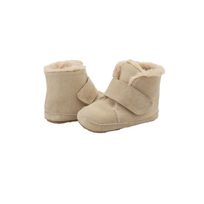 Old Soles Softly Boots - Natural Suede-Boots- Natural Baby Shower