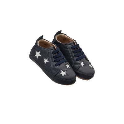 Old Soles Starey Bambini Shoes - Navy/Snow-Shoes- Natural Baby Shower