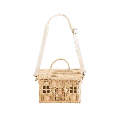 Olli Ella Casa Bag - Straw-Children's Bags- Natural Baby Shower