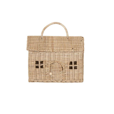 Olli Ella Casa Clutch - Straw-Children's Bags- Natural Baby Shower
