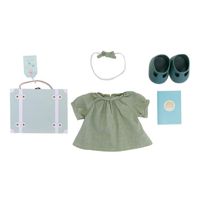 Olli Ella Dinkum Doll Travel Togs - Mint-Play Sets- Natural Baby Shower