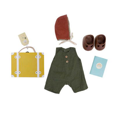 Olli Ella Dinkum Doll Travel Togs - Mustard-Play Sets- Natural Baby Shower
