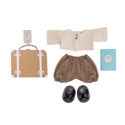 Olli Ella Dinkum Doll Travel Togs - Rust-Play Sets- Natural Baby Shower