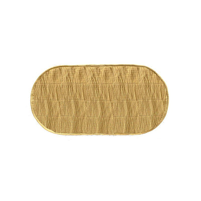 Olli Ella Nyla Luxe Organic Cotton Liner - Mustard-Changing Mats & Covers- Natural Baby Shower