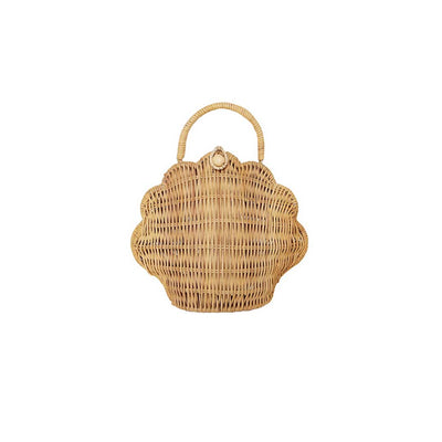 Olli Ella Shell Purse - Straw-Children's Bags- Natural Baby Shower