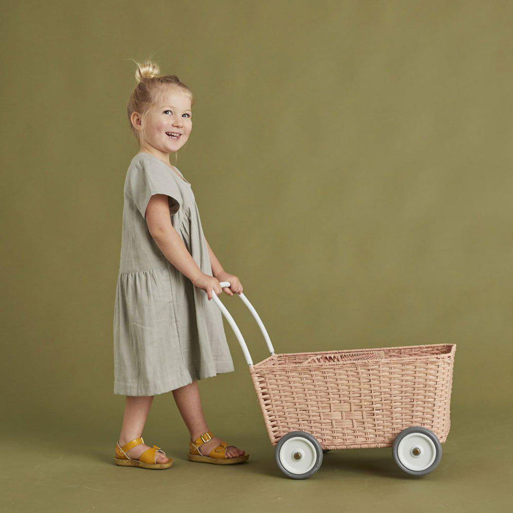 Olli Ella Strolley - Rose-Dolls Prams & Accessories- Natural Baby Shower