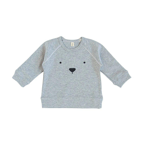 Organic Zoo Bear Sweatshirt - Grey-Jumpers- Natural Baby Shower