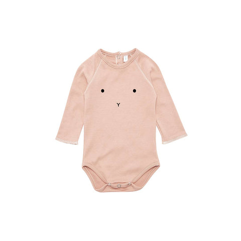 Organic Zoo Bunny Bodysuit - Clay-Bodysuits- Natural Baby Shower