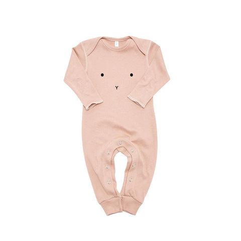 Organic Zoo Bunny Playsuit - Clay-Rompers- Natural Baby Shower