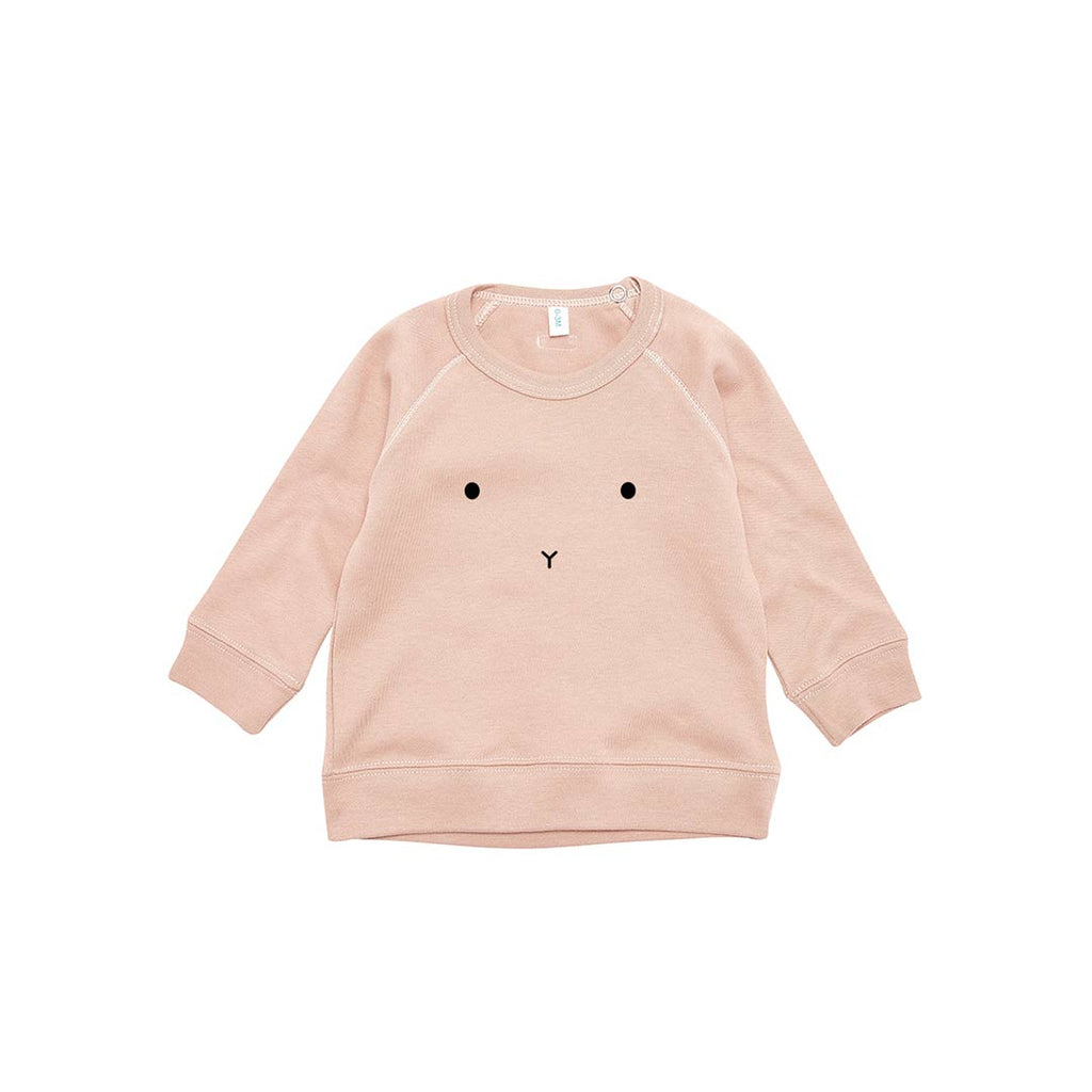 Organic Zoo Bunny Sweatshirt - Clay-Jumpers- Natural Baby Shower