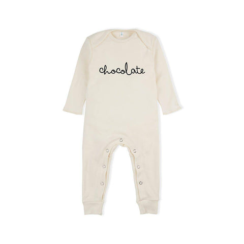 Organic Zoo Chocolate Playsuit - Natural-Rompers- Natural Baby Shower