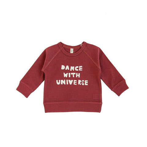 Organic Zoo Dance with the Universe Top - Burgundy-Long Sleeves- Natural Baby Shower