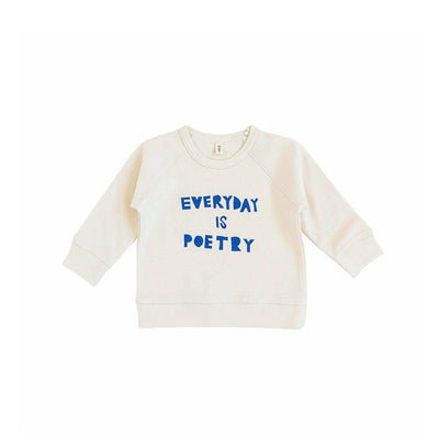 Organic Zoo Everyday is Poetry Top - Oat-Jumpers- Natural Baby Shower