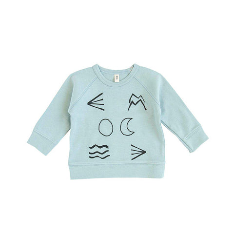 Organic Zoo Living Nature Top - Cloud-Long Sleeves- Natural Baby Shower