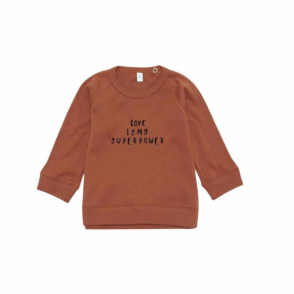 Organic Zoo Love Sweatshirt - Rust-Jumpers- Natural Baby Shower
