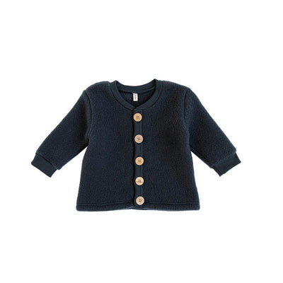 Organic Zoo Merino Brushed Wool Jacket - Navy-Coats & Snowsuits- Natural Baby Shower
