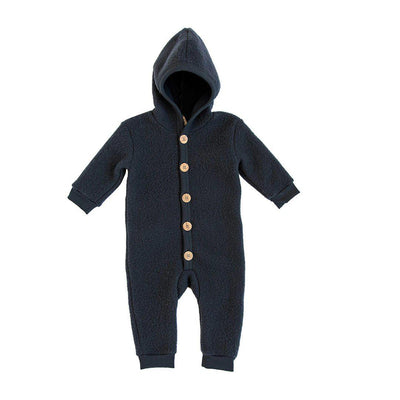 Organic Zoo Merino Brushed Wool Suit - Navy-Coats & Snowsuits- Natural Baby Shower